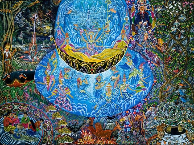 Unai Shipash (Musas del Tiempo y Espacio) by Pablo Amaringo