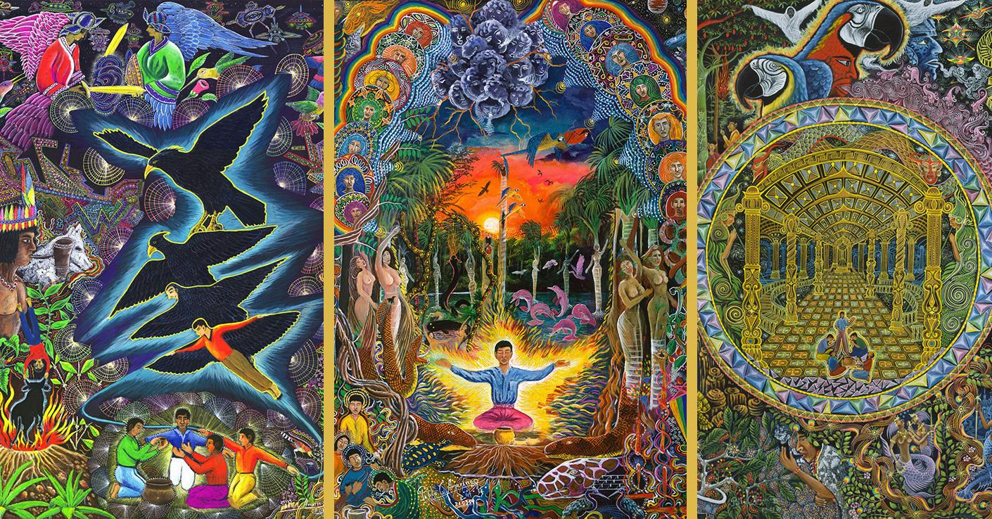 The Ayahuasca Visions of Peruvian Artist Pablo Amaringo   Kahpi