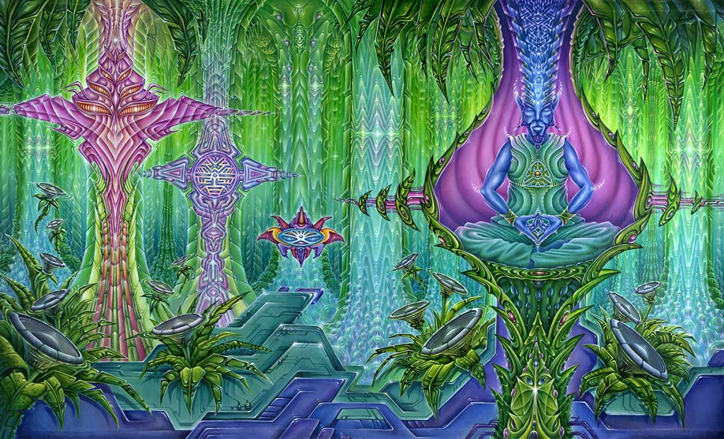 Meeting the DMT Trip Entities in Art