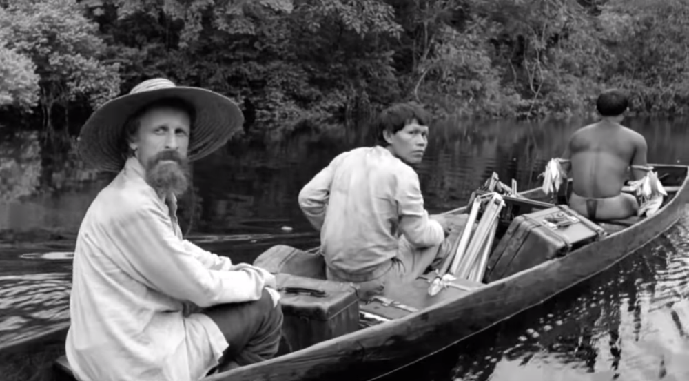 A scene from the film Embrace of the Serpent depicting one of Richard Evans Schultes' missions