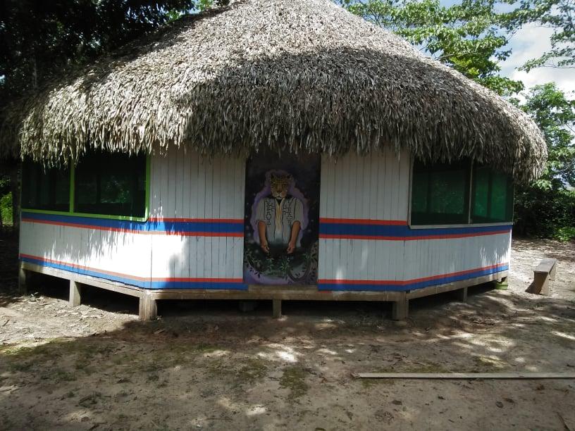A shamanic healing maloca at Maestro Mateo's place.